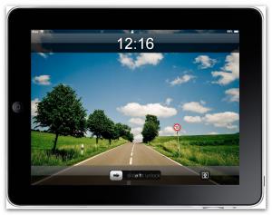 Der Lockscreen des iPad-Emulators im Web